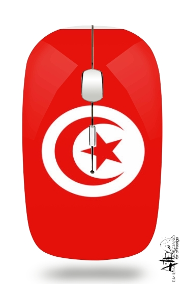 Flag of Tunisia for Wireless optical mouse with usb receiver