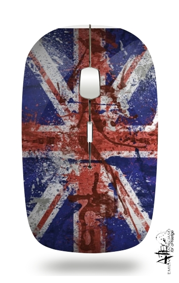 Union Jack Painting for Wireless optical mouse with usb receiver
