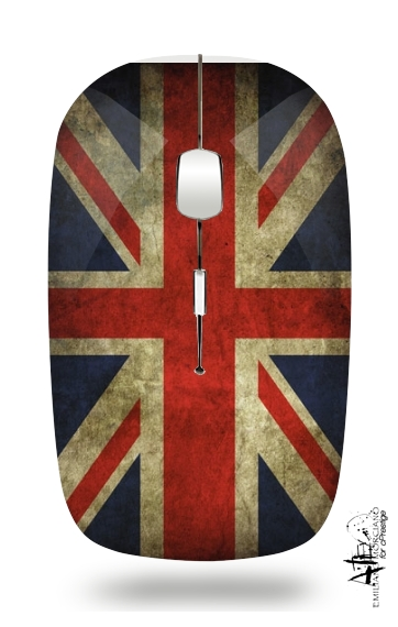 Old-looking British flag for Wireless optical mouse with usb receiver