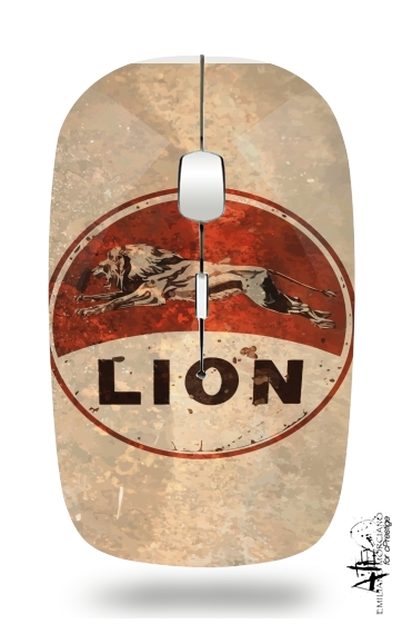 Vintage Gas Station Lion for Wireless optical mouse with usb receiver