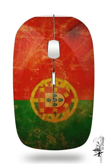 Vintage Flag Portugal for Wireless optical mouse with usb receiver