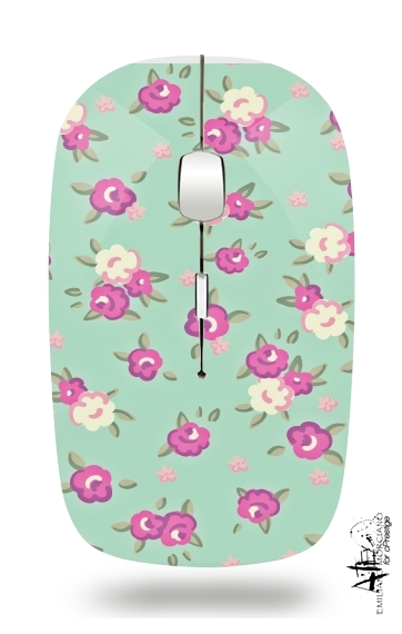 Vintage Roses Pattern for Wireless optical mouse with usb receiver