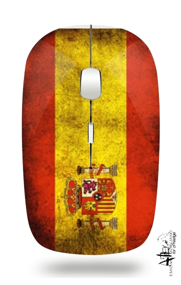 Flag Spain Vintage for Wireless optical mouse with usb receiver