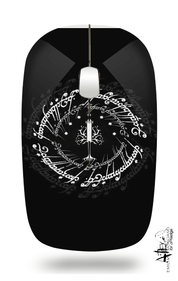 White tree of Gondor for Wireless optical mouse with usb receiver
