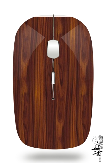 Wood for Wireless optical mouse with usb receiver