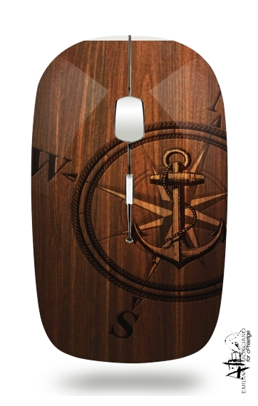 Wooden Anchor for Wireless optical mouse with usb receiver