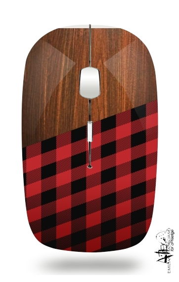 Wooden Lumberjack for Wireless optical mouse with usb receiver
