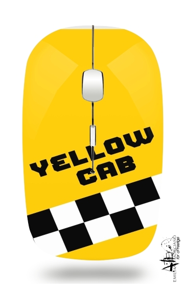 Yellow Cab for Wireless optical mouse with usb receiver