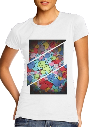 Abstract Cool Cubes for Women's Classic T-Shirt