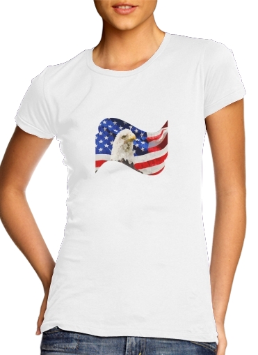 American Eagle and Flag for Women's Classic T-Shirt