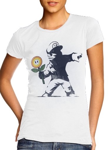 Banksy Flower bomb for Women's Classic T-Shirt