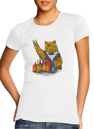 Bartender Bear for Women's Classic T-Shirt
