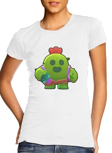 woment Brawl Stars Spike Cactus T-Shirts