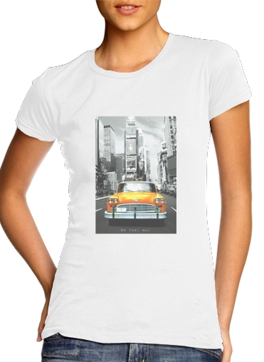 Yellow taxi City of New York City for Women's Classic T-Shirt