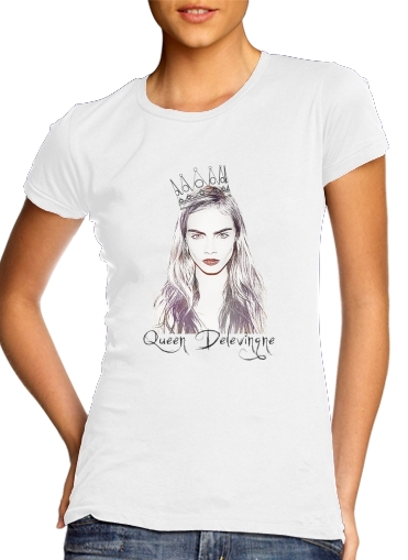 woment Cara Delevingne Queen Art T-Shirts