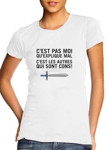 T-Shirts Cest pas moi qui explique mal