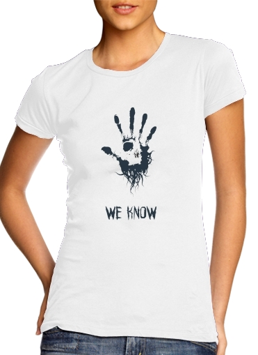 woment Dark Brotherhood we know symbol T-Shirts