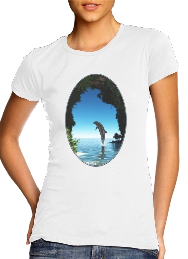 Dolphin in a hidden cave for Women's Classic T-Shirt