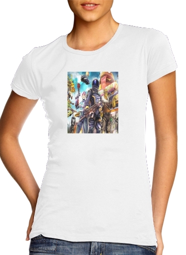 woment Fortnite Characters with Guns T-Shirts