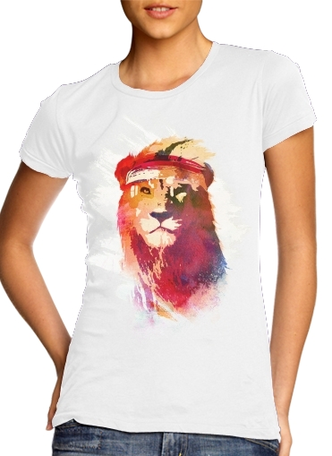 woment Gym Lion T-Shirts