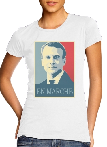 Macron Propaganda En marche la France for Women's Classic T-Shirt
