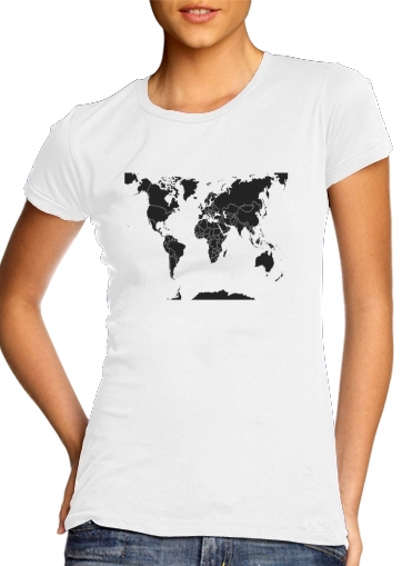 woment World Map T-Shirts