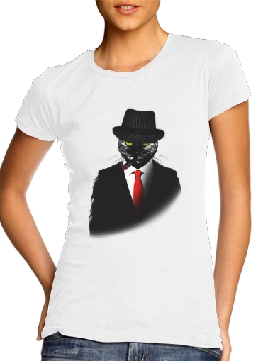 Mobster Cat for Women's Classic T-Shirt