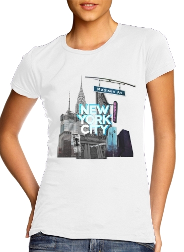 woment New York City II [blue] T-Shirts