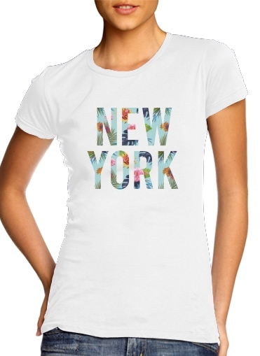 woment New York Floral T-Shirts