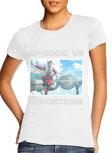 Pilot Poe Wing Manga Episode VII for Women's Classic T-Shirt