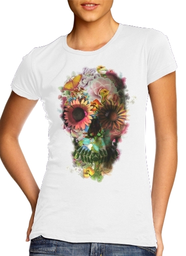 woment Skull Flowers Gardening T-Shirts
