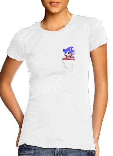 woment Sonic in the pocket T-Shirts