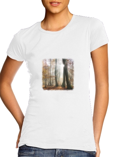 T-Shirts Sun rays in a mystic misty forest