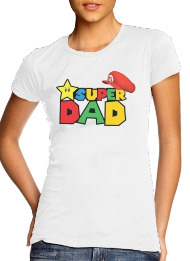 Super Dad Mario humour for Women's Classic T-Shirt