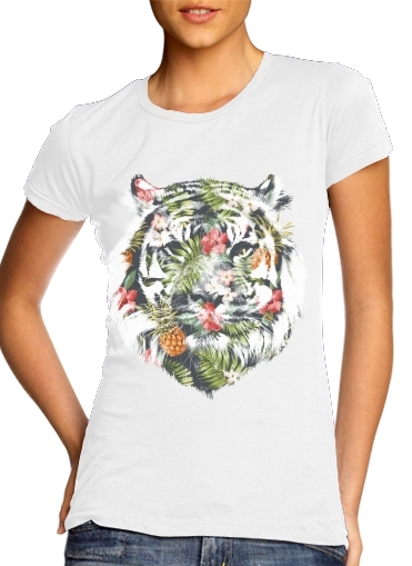 woment Tropical Tiger T-Shirts