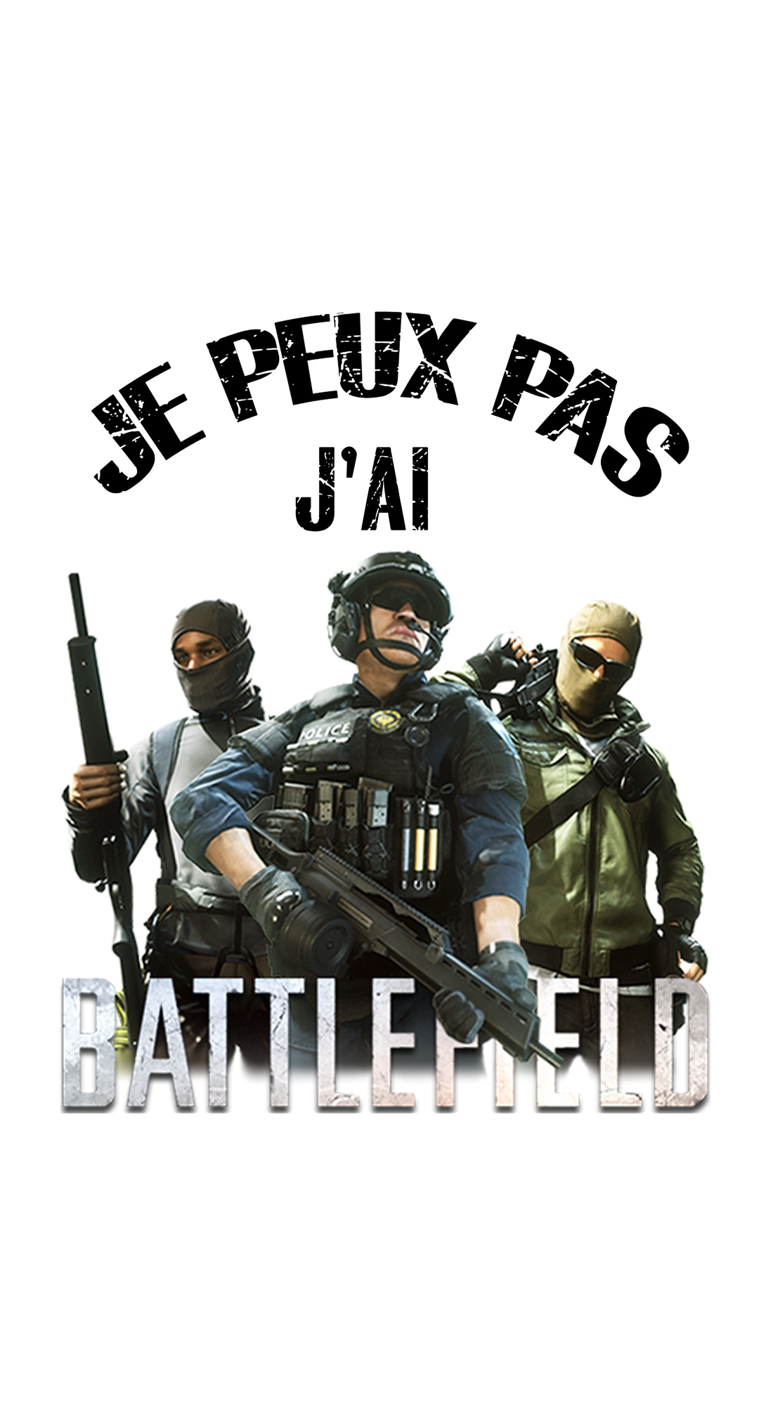 Je peux pas jai battlefield Case for