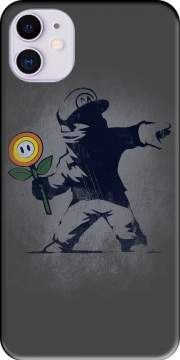 Banksy Flower bomb Case for iPhone 11