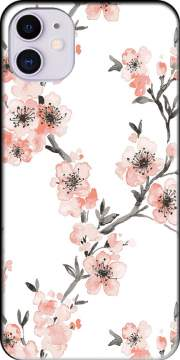 Cherry Blossom Aquarel Flower iPhone 11 Case