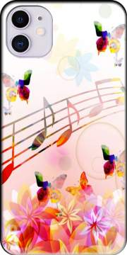 Musical Notes Butterflies Case for iPhone 11