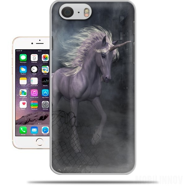 Case A dreamlike Unicorn walking through a destroyed city for Iphone 6 4.7