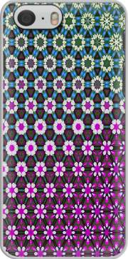 Abstract bright floral geometric pattern teal pink white Iphone 6 4.7 Case