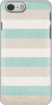 aqua and sand stripes Iphone 6 4.7 Case