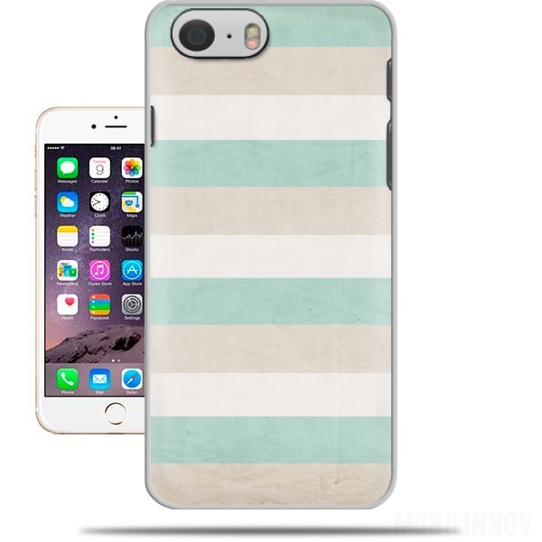Case aqua and sand stripes for Iphone 6 4.7
