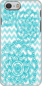 aqua chevrons and flowers Iphone 6 4.7 Case