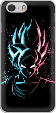 Black Goku Face Art Blue and pink hair Iphone 6 4.7 Case