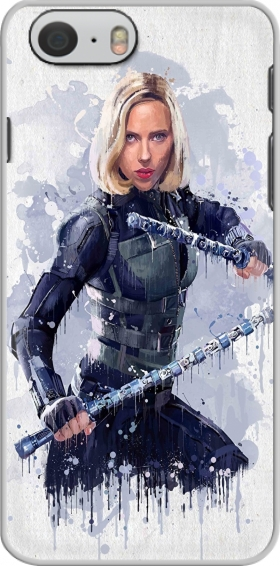 Case Black Widow Watercolor art for Iphone 6 4.7