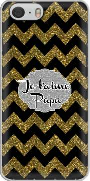chevron gold and black - Je t'aime Papa Case for Iphone 6 4.7
