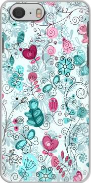 doodle flowers and butterflies Case for Iphone 6 4.7