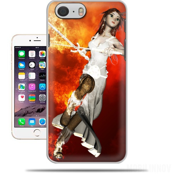 Case Girl with swords for Iphone 6 4.7