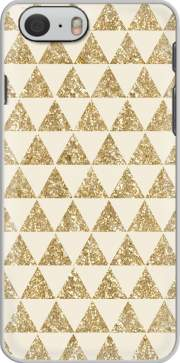 Glitter Triangles in Gold Case for Iphone 6 4.7